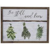 Be Still & Know Wood Wall Decor