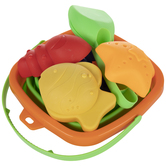 Square Collapsible Sand Bucket & Toys