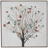 Tree With Birds Canvas Wall Decor