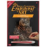 Tiger & Cubs Copper Foil Engraving Art Kit