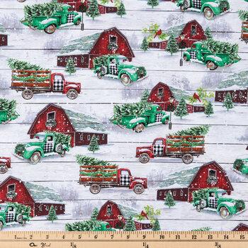 Barnyard Trucks Cotton Fabric