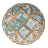 Gold & Blue Distressed Metal Knob