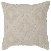 Beige Diamond Tufted Pillow Cover