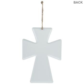 Kneel Metal Wall Cross