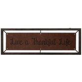 Live A Thankful Life Faux Leather Wall Decor