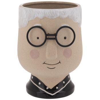 Grandma With Glasses Planter