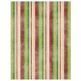 "Christmas Striped Scrapbook Paper - 8 1/2"" x 11"""