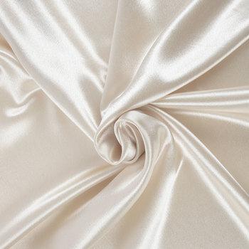 Ivory Crepe Back Satin Fabric