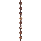 Brown Dyed Agate Bead Strand