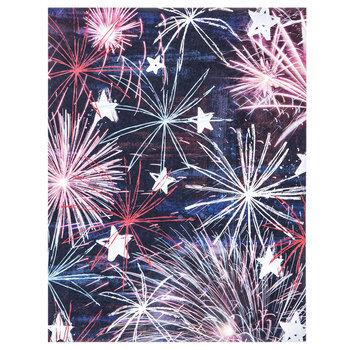 """Fireworks & Stars Scrapbook Paper - 8 1/2"""" x 11"""""""