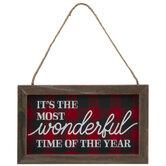 Most Wonderful Time Buffalo Check Ornament