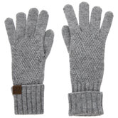 Gray Touchscreen Compatible Gloves