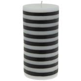 Horizontal Striped Pillar Candle