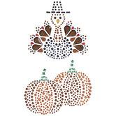 Turkey & Pumpkins Rhinestone Stickers