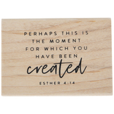 Esther 4:14 Rubber Stamp