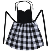 Black & White Buffalo Check Apron