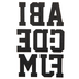 Black Sports Iron-On Applique Alphabet - 3