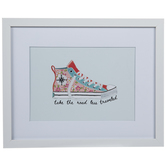 Floral Sneaker Framed Wood Wall Decor