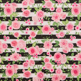 Pink Rose Striped Apparel Fabric