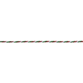Red, Green & White Twisted Cord