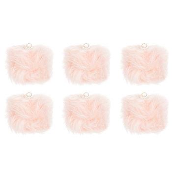 Pink Fur Ball Ornaments