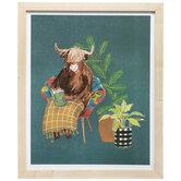 Cozy Highland Cow Framed Wood Wall Decor