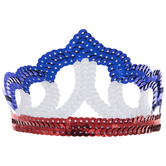 Red, White & Blue Scalloped Sequin Tiara