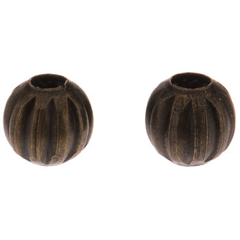 Fluted Metal Beads - 4mm