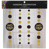 Gold Holographic Happy Birthday Hanging Decorations