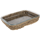 Dolly Parton Glass Baker & Wicker Basket