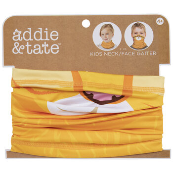 Kids Yellow Cat Gaiter Face Mask