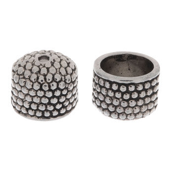 Dotted Bead Caps - 9mm x 10mm