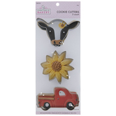 Cow, Flower & Truck Metal Cookie Cutters