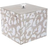 Natural & White Leopard Print Box