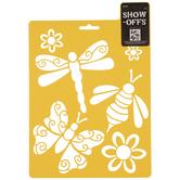 Bugs & Flowers Stencil
