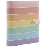 Multi-Color Striped 6-Ring Planner Binder