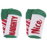 Naughty & Nice Crew Socks