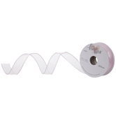"""Light Pink Wired Edge Sheer Ribbon - 7/8"""""""