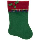 Mini Holly Stocking