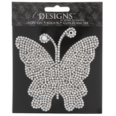 Rhinestone Butterfly Iron-On Applique