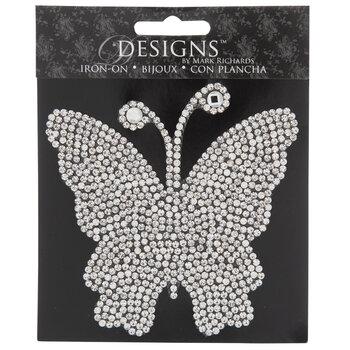 Rhinestone Butterfly Iron-On Applique