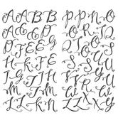 Black Glitter Alphabet Stickers With Rhinestones