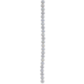 Gray AB Coated Glass Bead Strands