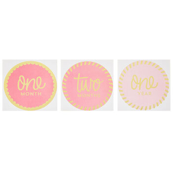 Pink Monthly Milestone Stickers