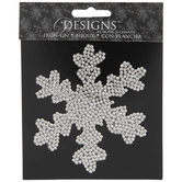 Silver Snowflake Rhinestone Iron-On Applique