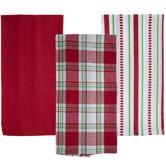 Plaid, Striped & Solid Kitchen Towels
