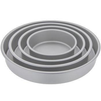 Four-Tiered Round Aluminum Pan Set