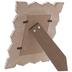 White & Brown Scroll Wood Frame - 4