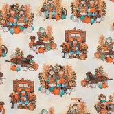 Scarecrow Couple Cotton Fabric