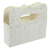 White & Pearl Flourish Favor Boxes